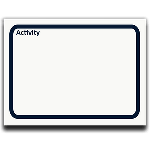 Icon Activity as sticky notes for process analysis symbols