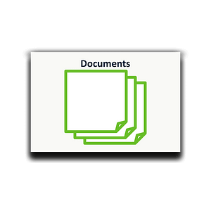 Icon documents as sticky notes for process analysis